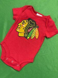 B657/60 NHL Chicago Blackhawks Fanatics Baby-Grow Vest Newborn 0-3 months