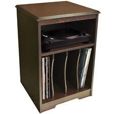 Audio - Plato Giratorio / LP Record/VINILO almacenaje Auxiliar Mesa - nogal