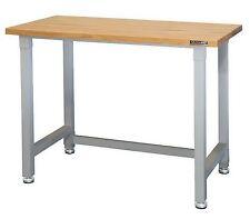 4 Foot Workbench Wood Top Steel Frame Work Bench 800 lb Capacity Gray