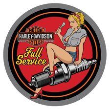 Harley Davidson Spark Plug Babe Wall Hanging Art Embossed Tin Sign Great Gift