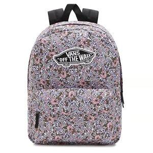 Vans Realm Backpack/Rucksack for School/Work/Travel in Black/Field Floral