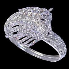 Flower Animal Horse Bracelet Bangle Cuff Clear Rhinestone Crystal