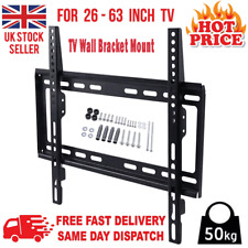 TV WALL BRACKET MOUNT SLIM FOR 26 30 32 40 42 50 63 INCH FLAT 3D LCD LED PLASMA