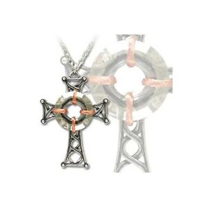 Alchemy St Caillin Celtic Cross Pewter Pendant Necklace Gothic Medieval Crucifix