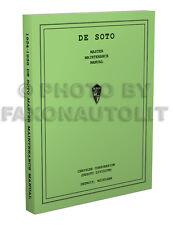 1934 1935 1936 De Soto Shop Manual 34-36 DeSoto Airflow Airstream Repair Service