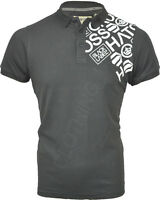 Mens Crosshatch 'Hackedoff' Short Sleeved Cotton Printed Pique Polo T Shirt