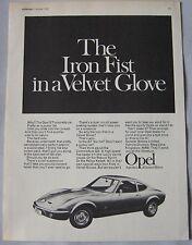 1968 Opel GT Original advert