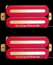 Guitar Parts GUITARHEADS PICKUPS MEGAMETAL HUMBUCKER - Bridge Neck SET 2 - RED