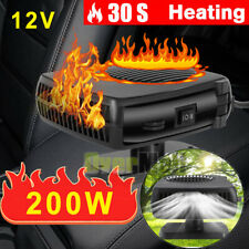 200W Portable Electric Car Truck Fan Heater 12V Dc Defogger Defroster Demister