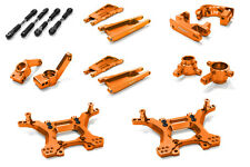 C26516ORANGE Integy Billet Stage 1 Suspension Kit for Traxxas 1/10 Slash 4X4 LCG