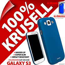 Krusell Blu ColorCover Custodia Rigida Per Samsung i9300 Galaxy S3 Cover S III 3