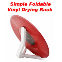 Easy LP Vinyl Record Stand Rack Drying Foldable Skidproof Turntable Album Holder