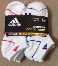 Adidas Women's Performance 6-Pair Low Cut Socks  White - 2  (3986)