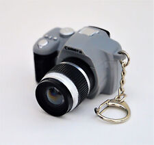 "SINGLE LENS REFLEX CAMERA KEYCHAIN GRAY & BLACK 1 1/4 INCHES H, 2"" W, 2"" D NEW"