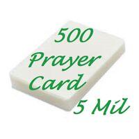 500 Prayer Card Laminating Pouches Laminator Sleeves 5 Mil 2-3/4 x 4-1/2 Gloss