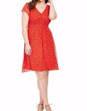 City Chic Chiffon A Line Smocked Waist Dress Size XXL (24)