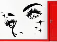 Augen Gesicht Wandtattoo Wallpaper Wand Schmuck 57 x 90 cm Wandbild