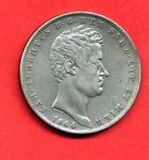 (ET 25) ITALIE SARDAIGNE  5 LIRE CHARLES ALBERT (1844) P GENOVA