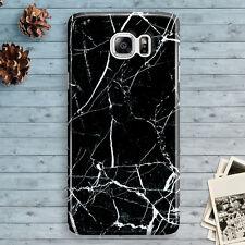Marble Black Granite White Samsung Galaxy Note 7 Note 5 Note 4 3 Slim Hard Case