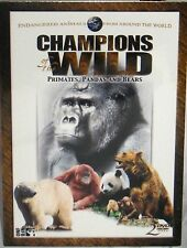 Champions of the Wild ,NEW! 2 DVD SET,BEARS,PANDAS,MONKEYS,TEACH , EDUCATIONAL