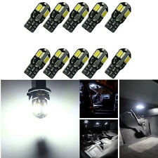 10 x Canbus Error Free T10 White 8 5730 SMD LED Car Side Wedge Light Bulb  MA