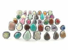 Amethyst & Multi Mixed Gemstone Wholesale Lot Ring 925 Sterling Silver Ring Lots