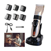 Electric Mens Hair Clippers Beard Body Trimmer Shaver Barber Set Cutting Machine