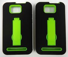 ( 2 Pack ) Defender Armor Hybrids for BLU Vivo 4.3 / D910a - Black and Green