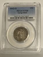 1842-O Large Date Seated Quarter _ PCGS VF-20 _ No Problems Here !!!