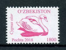 Uzbekistan 2018 MNH Birds Definitives Part 4 1v Set Swans Bird Stamps