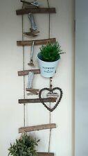 Decorative Wooden Ladder Cottage Vintage Shabby Natural Towel Rail