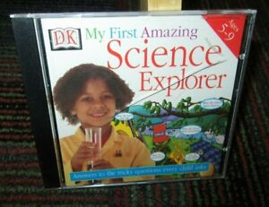 DK: MY FIRST AMAZING SCIENCE EXPLORER PC CD-ROM, INTERACTIVE, EXPERIMENT,AGE 5-9