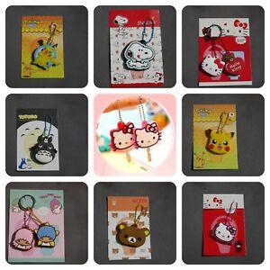 Cute Key cap cover Hello Kitty Totoro Pokemon Snoopy keyring bag charm dangler