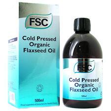 FSC Pressato a Freddo Biologico Flaxseed OLIO 500ml