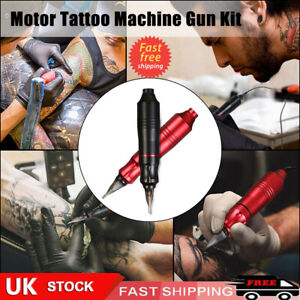 12000RPM Rotary Tattoo Pen Motor Tattoo Machine Gun Kit Needles New