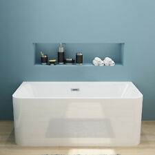 Bathroom Freestanding Bath Tub Acrylic With Overflow Back to Wall-1700x750x580mm