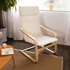 SoBuy® Comfortable Lounge Chair Bentwood Chair with Cushion, FST17-W, White, UK