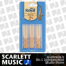 Rico Royal Tenor Sax Reeds 3 Pack Reed Size 2.5 ( 2 1/2 - Two and a Half ) 3PK