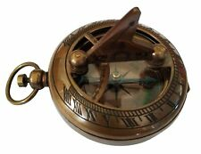 Antique 2 Inch Sundial Magnetic Compass brass compass cristmas gift