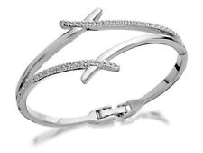 Oliver Weber Womens Ladies Double Strand Swarovski Crystal Bangle Bracelet