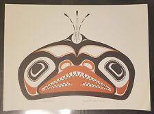 """Rare Print """"Killer Whale"""" Seiroglyph by Jack Hudson, Tsimshian Nation"""