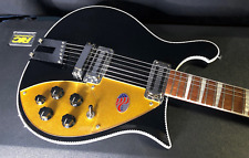 MINT! Rickenbacker 660 Series JetGlo Electric Guitar Original Hardshell Case
