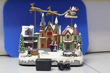 Eluceo Animated Santa Sled Reindeer Christmas Display Musical Lighted
