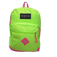 JanSport City Scout Laptop Backpack Fluorescent Green Pink