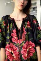 Embroidered black blouse - ukrainian folk ethnic vyshyvanka Vita Kin. All sizes
