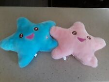 Set Of 2 Plush Star Shaped Pillows in excellent condition