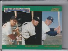 1992 SCORE #4 MANTLE & MUSIAL & YASTRZEMSKI FRANCHISE FAVORITES HOF 9065