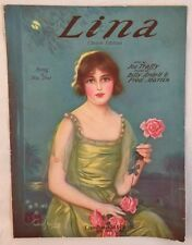 1921 Sheet Music Lina Fox Trot Song Joe Traffy Artist Frederik Manning