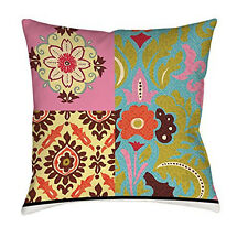 Thumbprintz Square Throw Pillow, 26-Inch, Eclectic Mix Boho Made In USA NEW