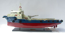 Offshore Support Vessel Wooden Ship Model Display Ready